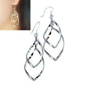 🎀925 Diamond Twist Earrings